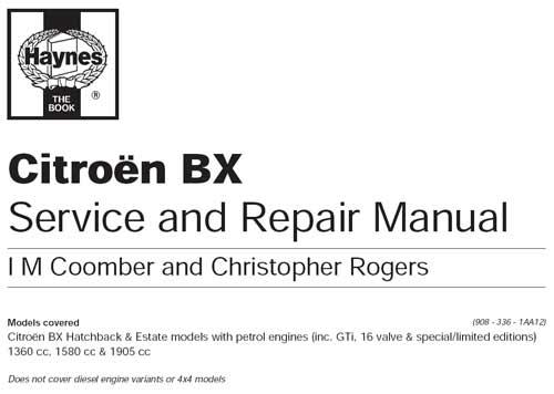 Руководство по ремонту и эксплуатации Citroen BX