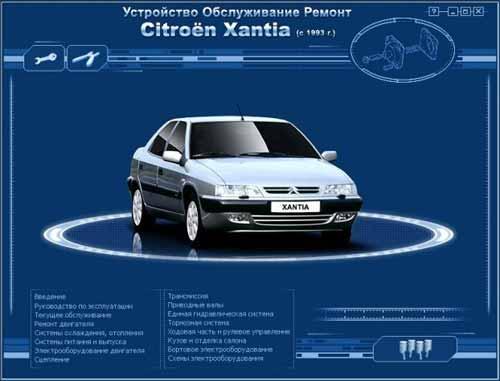 Мультимедийное руководство по Citroen Xantia c 1993 г. выпуска