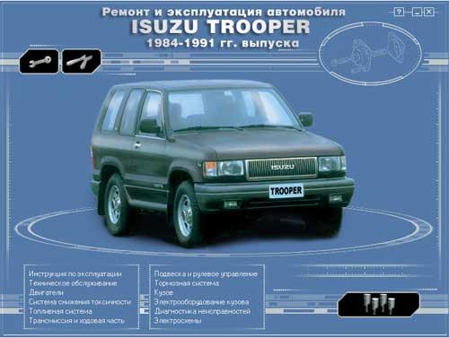 Мультимедийное руководство по ремонту и эксплуатации автомобиля Isuzu Trooper (1984-1991)