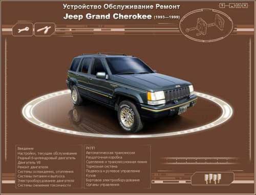 Ремонт и эксплуатация Jeep Grand Cherokee. Мультимедийное руководство по ремонту и обслуживанию автомобиля Jeep Grand Cherokee (1993-1999г. выпуска).
