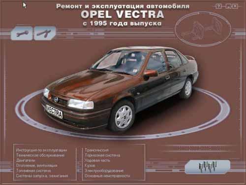Мультимедийное руководство по ремонту и обслуживанию автомобиля Opel Vectra (1988 - 1995 г.)