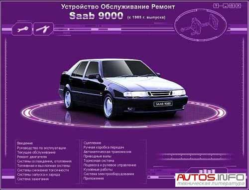 Мультимедийное руководство по ремонту и обслуживанию автомобиля SAAB 9000 (c 1985 г. выпуска)